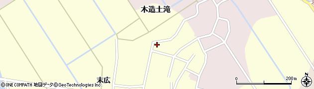 青森県つがる市木造土滝稲葉周辺の地図