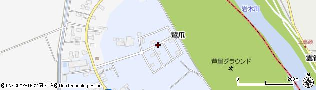 青森県つがる市木造川除鷲爪周辺の地図