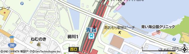 青森県青森市周辺の地図