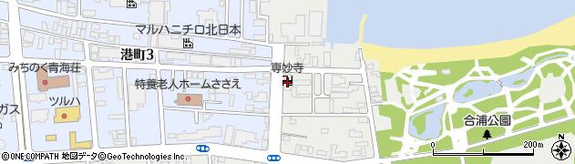 専妙寺周辺の地図