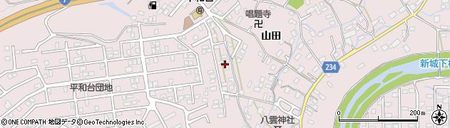 青森県青森市新城(山田)周辺の地図