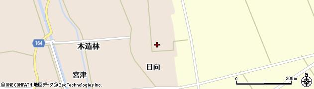 青森県つがる市木造林日向周辺の地図