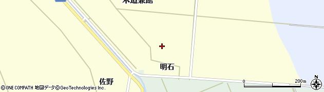 青森県つがる市木造兼館明石周辺の地図