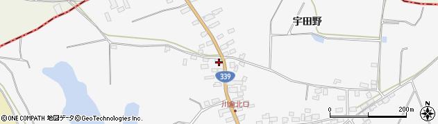 青森県五所川原市金木町川倉宇田野155-84周辺の地図