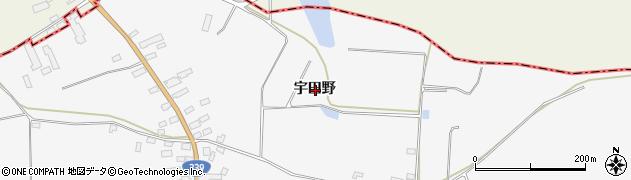 青森県五所川原市金木町川倉宇田野周辺の地図