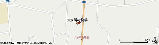 青森県上北郡六ヶ所村周辺の地図
