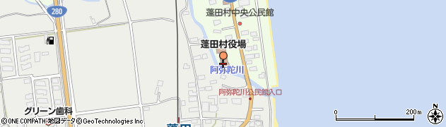青森県東津軽郡蓬田村周辺の地図