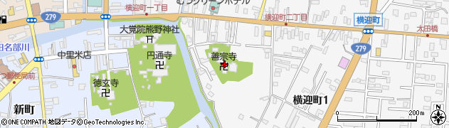 善宗寺周辺の地図