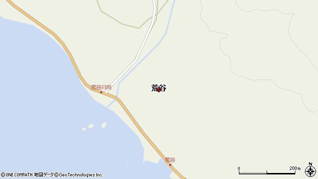 〒049-1523 北海道松前郡松前町荒谷の地図