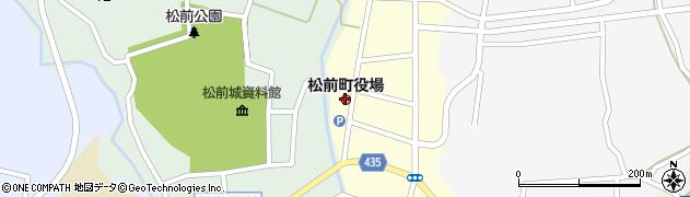 北海道松前郡松前町周辺の地図
