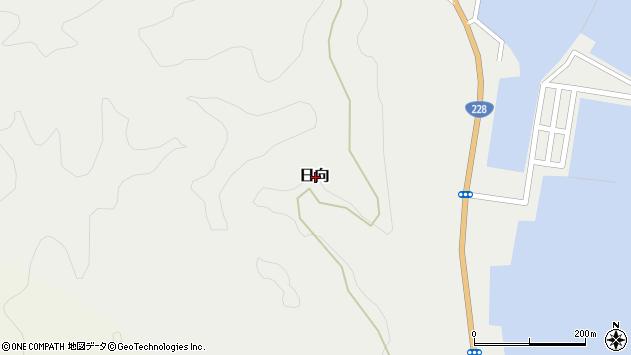 〒049-1302 北海道松前郡福島町日向の地図