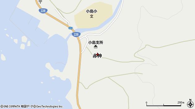 〒049-1643 北海道松前郡松前町赤神の地図