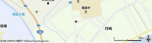 北海道松前郡福島町月崎周辺の地図
