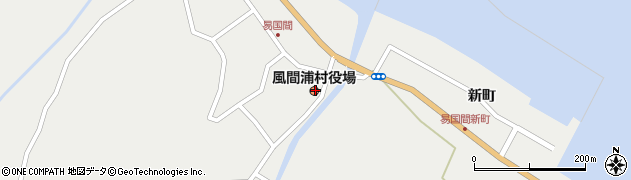 青森県下北郡風間浦村周辺の地図
