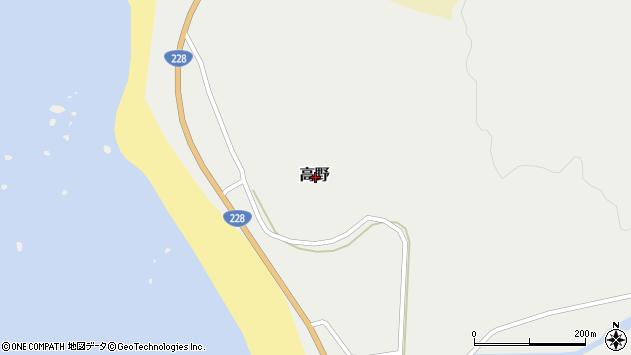 〒049-1782 北海道松前郡松前町高野の地図