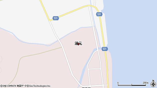 〒049-1104 北海道上磯郡知内町涌元の地図
