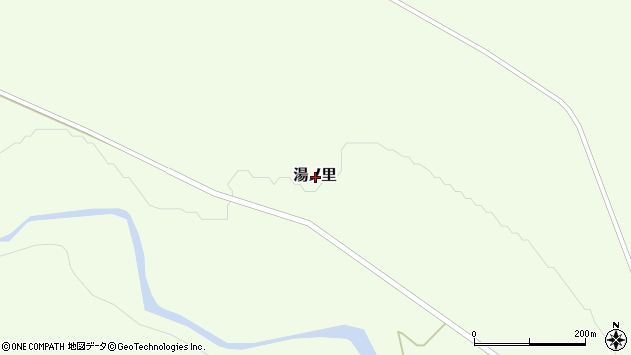 〒049-1221 北海道上磯郡知内町湯ノ里の地図