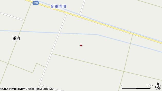 〒049-1103 北海道上磯郡知内町重内の地図