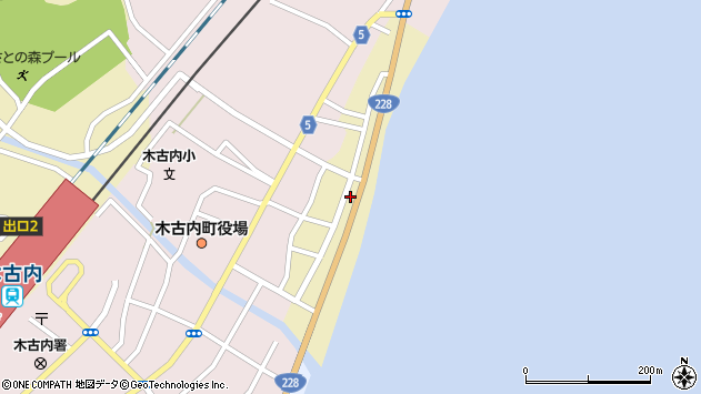 〒049-0421 北海道上磯郡木古内町前浜の地図