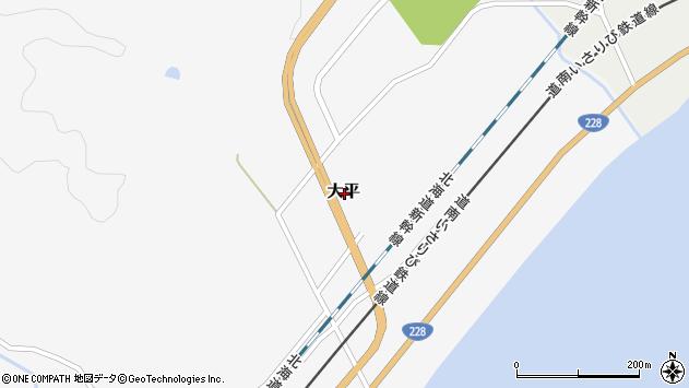 〒049-0412 北海道上磯郡木古内町大平の地図