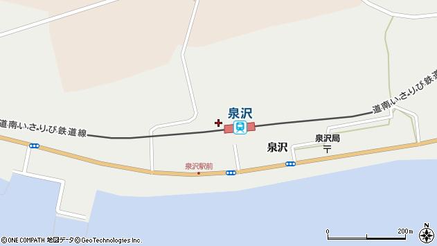 〒049-0405 北海道上磯郡木古内町泉沢の地図