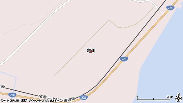 〒049-0404 北海道上磯郡木古内町亀川の地図