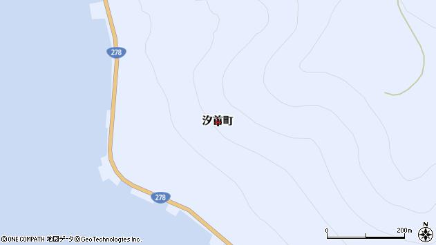 〒041-0301 北海道函館市汐首町の地図