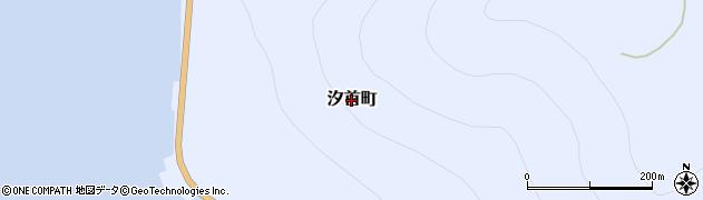 北海道函館市汐首町周辺の地図