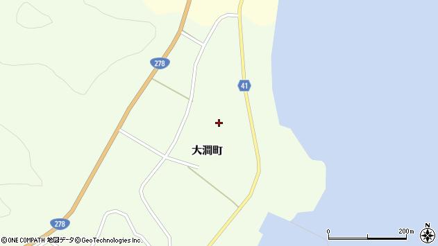 〒041-0403 北海道函館市大澗町の地図