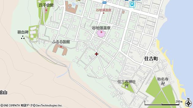 〒040-0046 北海道函館市谷地頭町の地図