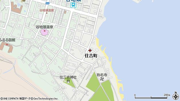 〒040-0045 北海道函館市住吉町の地図