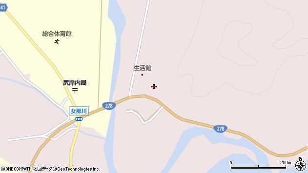 〒041-0406 北海道函館市女那川町の地図