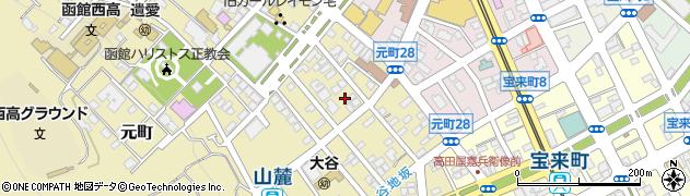 北海道函館市元町周辺の地図