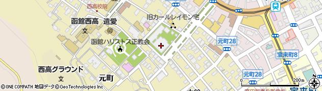 東本願寺函館別院周辺の地図