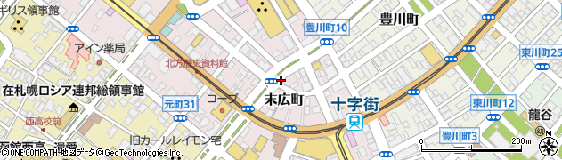 北海道函館市末広町周辺の地図