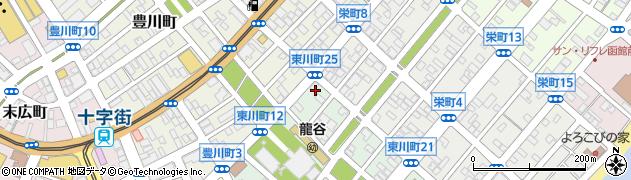 北海道函館市東川町周辺の地図