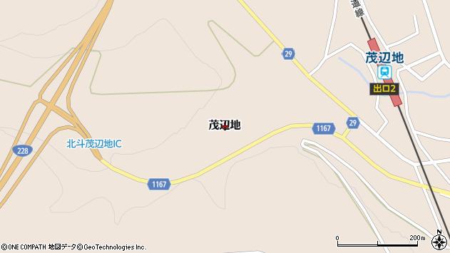 〒049-0281 北海道北斗市茂辺地の地図