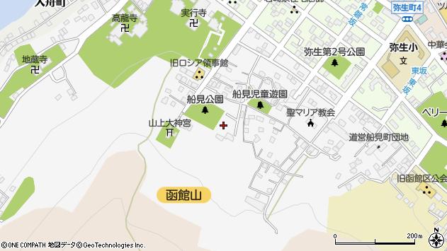 〒040-0055 北海道函館市船見町の地図