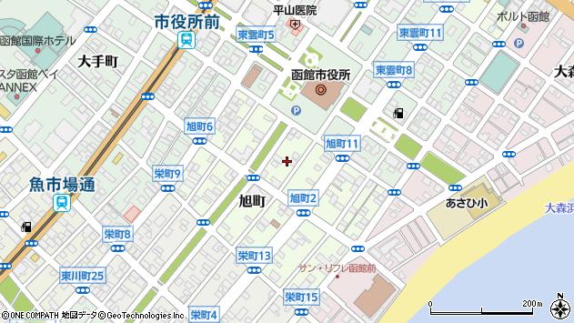 〒040-0037 北海道函館市旭町の地図