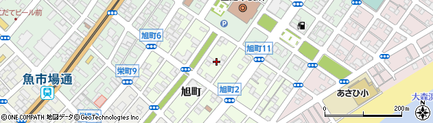 北海道函館市旭町周辺の地図
