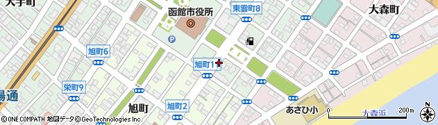 北海道函館市東雲町周辺の地図