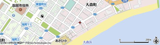 北海道函館市大森町周辺の地図