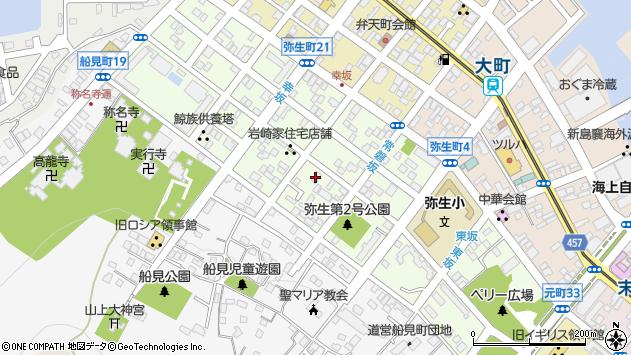 〒040-0056 北海道函館市弥生町の地図