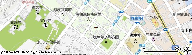 北海道函館市弥生町周辺の地図