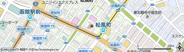 北海道函館市松風町周辺の地図