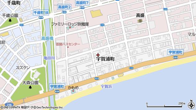 〒040-0023 北海道函館市宇賀浦町の地図
