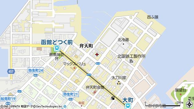 〒040-0051 北海道函館市弁天町の地図