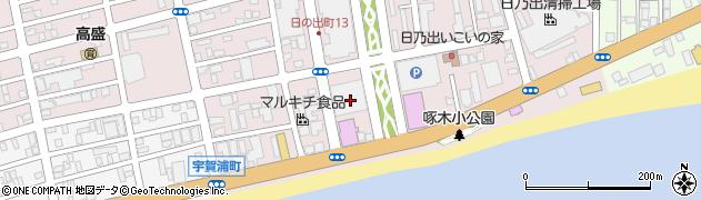 北海道函館市日乃出町周辺の地図