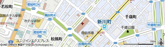 日本郵政公社労働組合函館支部周辺の地図