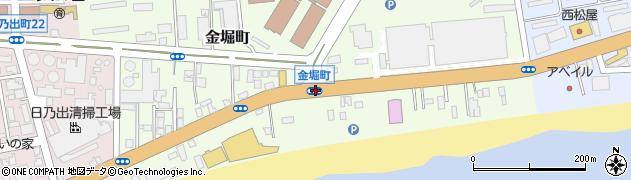 金堀町周辺の地図